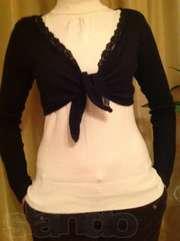 Болеро, тонкий трикотаж, 44-46, цвет чёрный